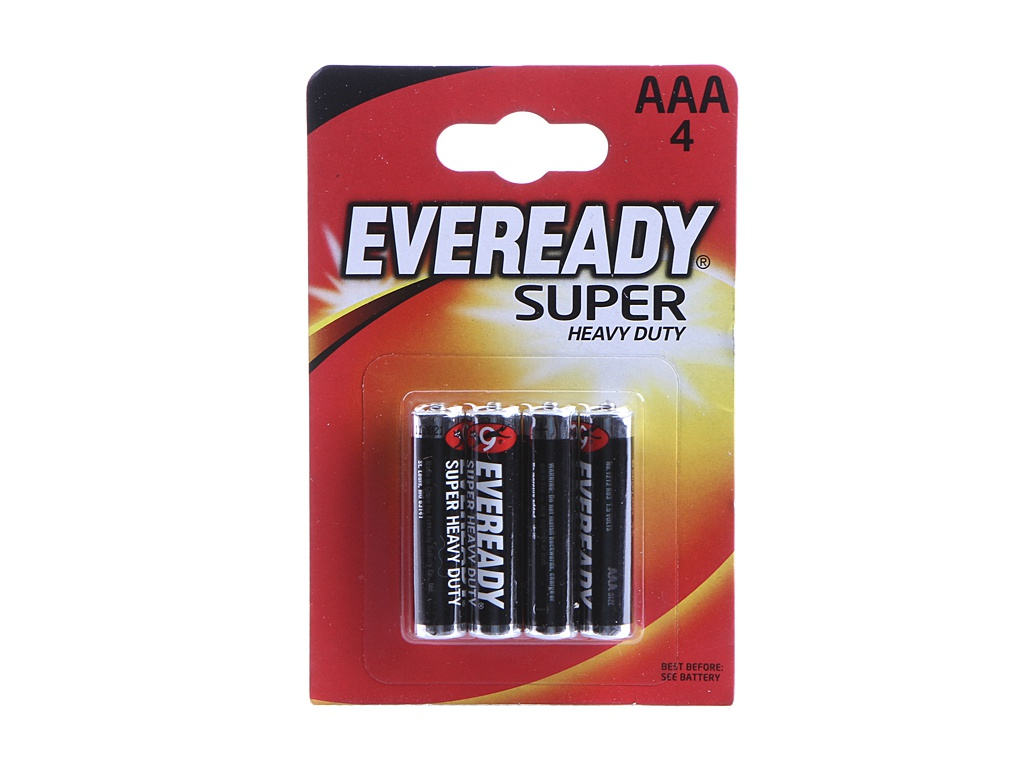 Батарейка AAA - Energizer Eveready Super R03 1.5V (4шт) E301156100 / 11647
