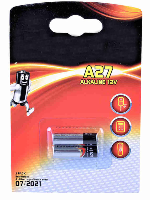 Батарейка A27A - Energizer Alkaline 12V (2шт) 639333 / 25863