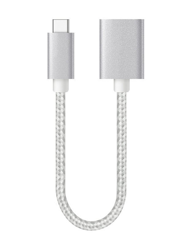 Аксессуар Smarterra OTG - Type C USB F 20cm STR-TCU20 Silver