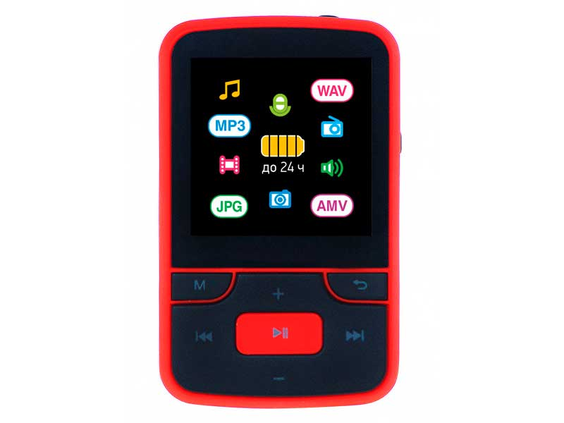 Плеер Digma T4 8Gb Black-Red