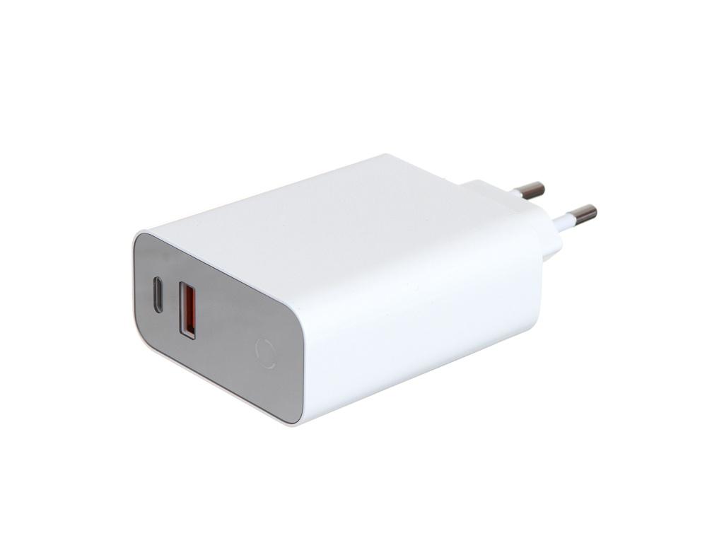 Зарядное устройство Baseus SpeedPPSIntelligentPower DigitalDisplay/ QuickChargerPD3.0+QC3.045W/ Type-C+USB EU White CCFSEU907-02