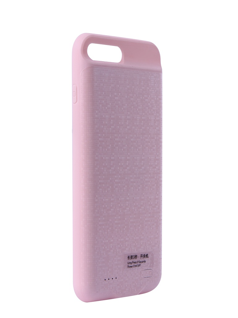 Аксессуар Чехол-аккумулятор Baseus для APPLE iPhone 7 Plus / 8 Plus Plaid Backpack Power Bank Case 3650mAh Pink ACAPIPH7P-BJ04 аккумулятор red line r 3000 power bank 3000mah black ут000008703