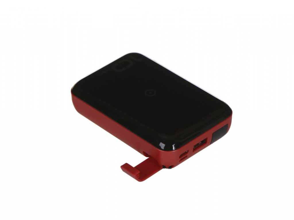 Внешний аккумулятор Baseus Power Bank Mini S Bracket 10W Wireless Charger 10000mAh 18W Black-Red PPXFF10W-19 все цены