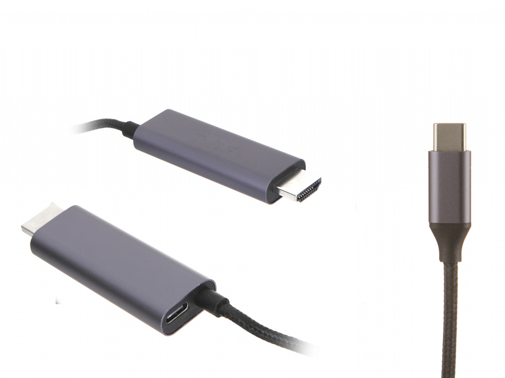 Аксессуар Baseus C-Video Functional Notebook Cable HDMI - USB Type-C 1.8m Dark Grey CATCY-D0G