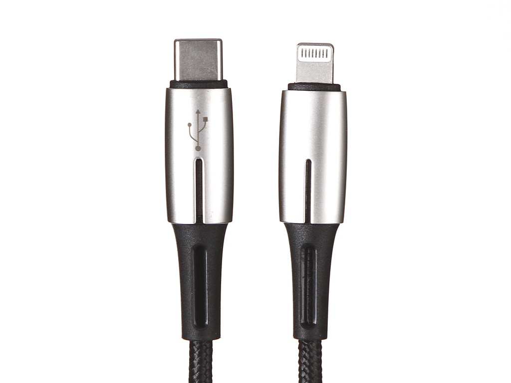 Фото - Аксессуар Baseus Waterdrop Cable Type-C-Lightning PD 18W 1.3m Black CATLRD-01 аксессуар hoco upa13 sound source lightning 3 5 audio cable black