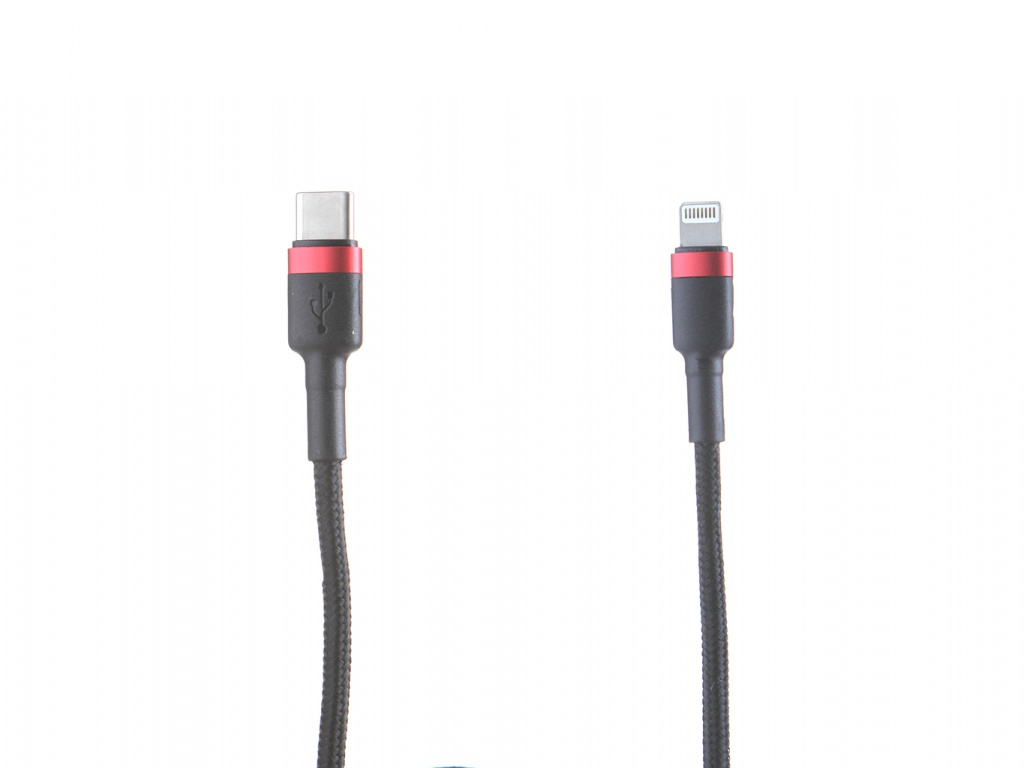 Аксессуар Baseus Cafule Cable Type-C-Lightning PD 18W 1m Red-Black CATLKLF-91