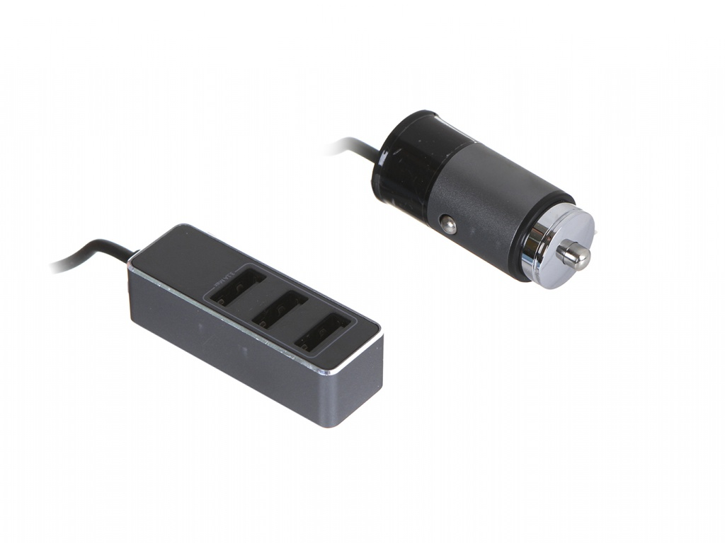 Зарядное устройство Baseus Enjoy Together Four Interfaces Output Patulous Car Charger 4xUSB 5.5A Dark Grey CCTON-0G