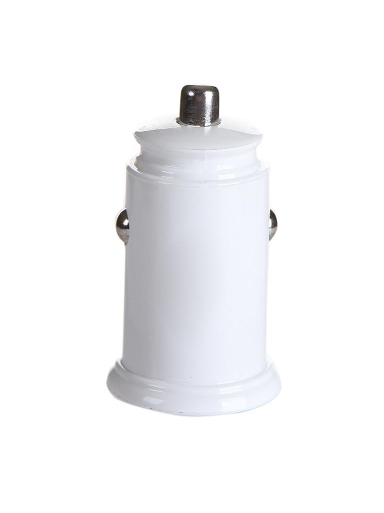 Зарядное устройство Baseus Circular Plastic A+A 30W Dual QC3.0 Quick Car Charger White CCALL-YD02