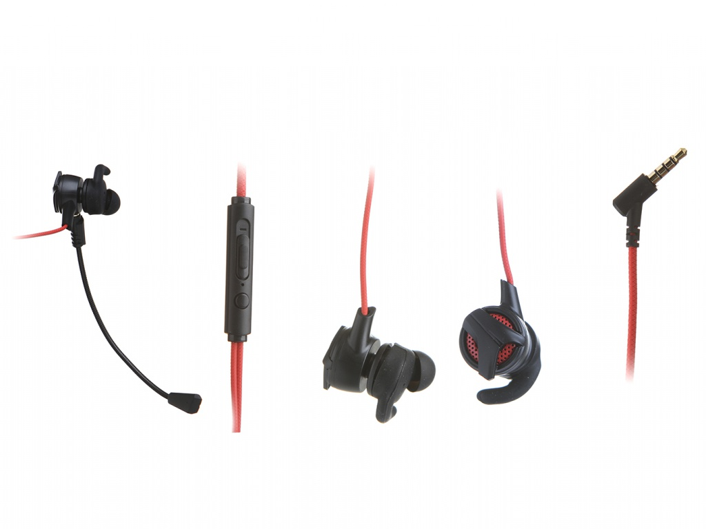Наушники Baseus Gamo 3.5MM Wired Earphone H15 Red-Black NGH15-91