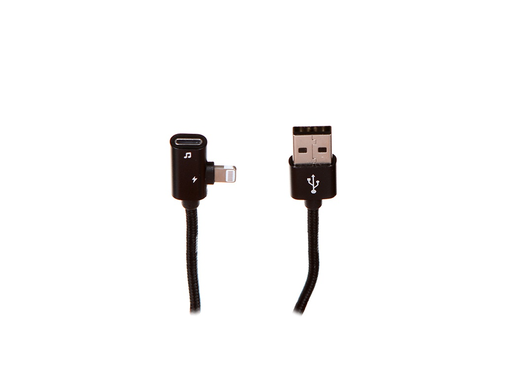 Аксессуар Baseus Entertaining Audio Data Cable USB-Lightning 2A 1m Black CALYD-01