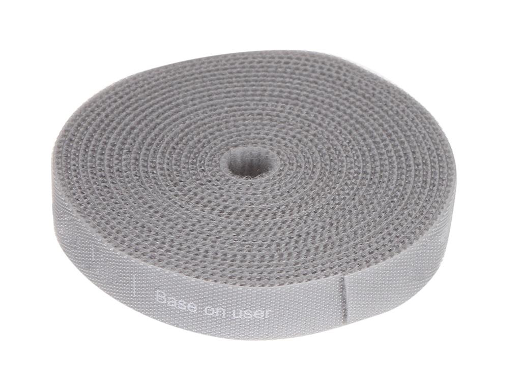 Органайзер проводов Baseus Rainbow Circle Velcro Straps 3m Grey ACMGT-F0G