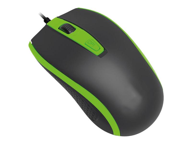 Мышь Perfeo Profil Black-Green USB PF-383-OP-B/GN PF_4930
