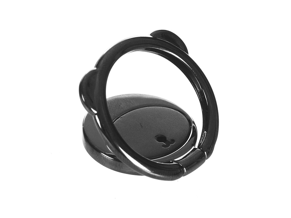 Попсокет Кольцо-держатель Baseus Bear Finger Metal Ring Grip Stand Holder Black SUBR-01