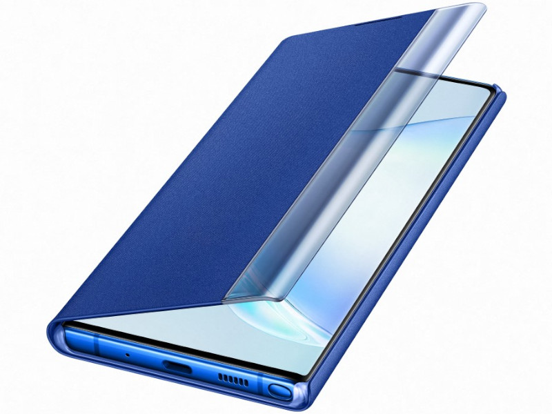 Аксессуар Чехол Samsung Galaxy Note 10 Plus Clear View Standing Cover Blue EF-ZN975CLEGRU чехол для samsung galaxy s8 samsung clear view standing cover ef zg955cvegru
