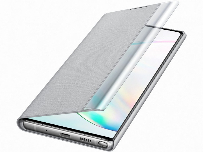 Аксессуар Чехол Samsung Galaxy Note 10 Plus Clear View Standing Cover Silver EF-ZN975CSEGRU цена и фото