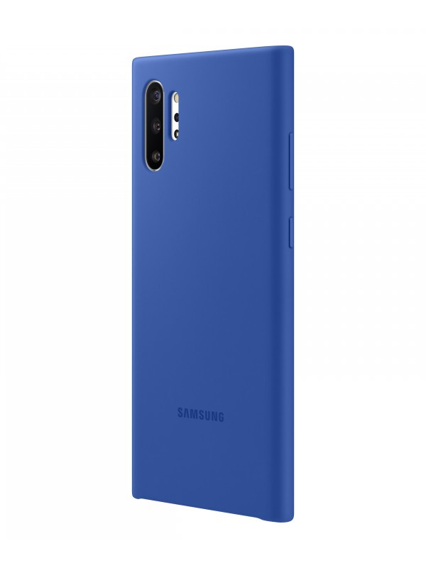 Чехол Samsung Galaxy Note 10 Plus Silicone Cover Blue EF-PN975TLEGRU
