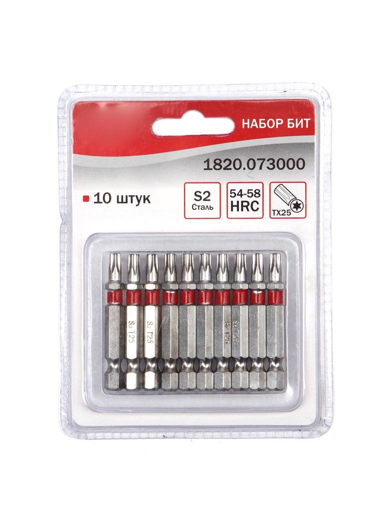Набор бит Elitech Torx 25 x 50mm 10шт 1820.073000