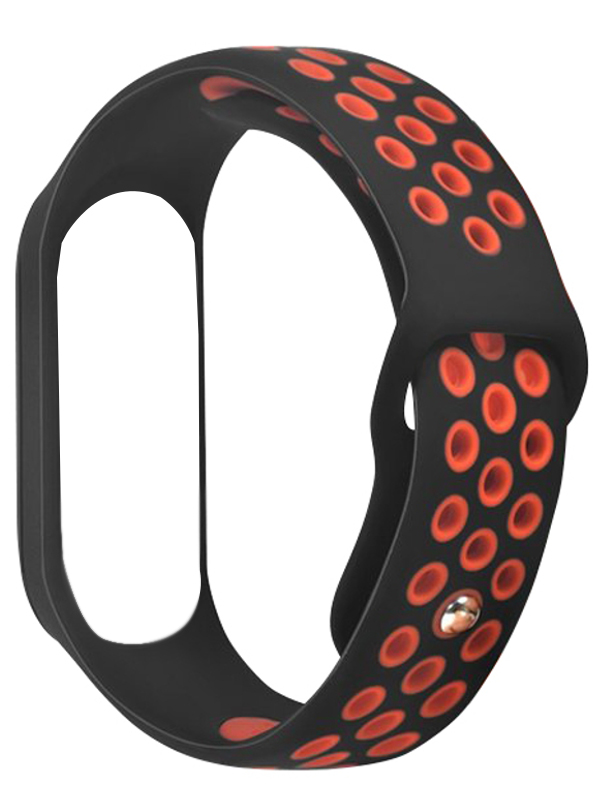 Aксессуар Ремешок DF для Xiaomi Mi Band 3/4 xiSportband-02 Black-Red