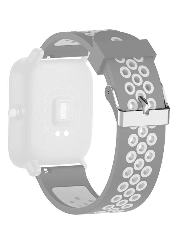 Аксессуар Ремешок DF для Xiaomi Amazfit Bip xiSportband-01 Grey-White