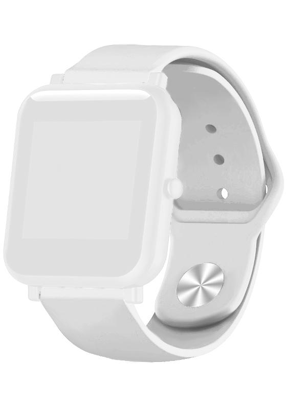 Aксессуар Ремешок DF для Xiaomi Amazfit Bip xiClassicband-01 White aксессуар ремешок qstar для qs myday 01 orange