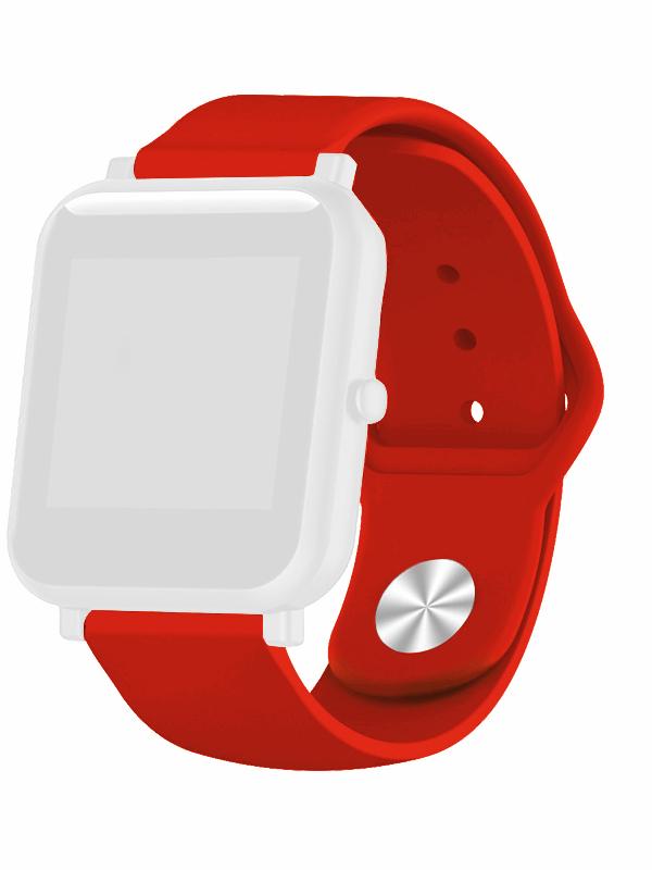 Аксессуар Ремешок DF для Xiaomi Amazfit Bip xiClassicband-01 Red