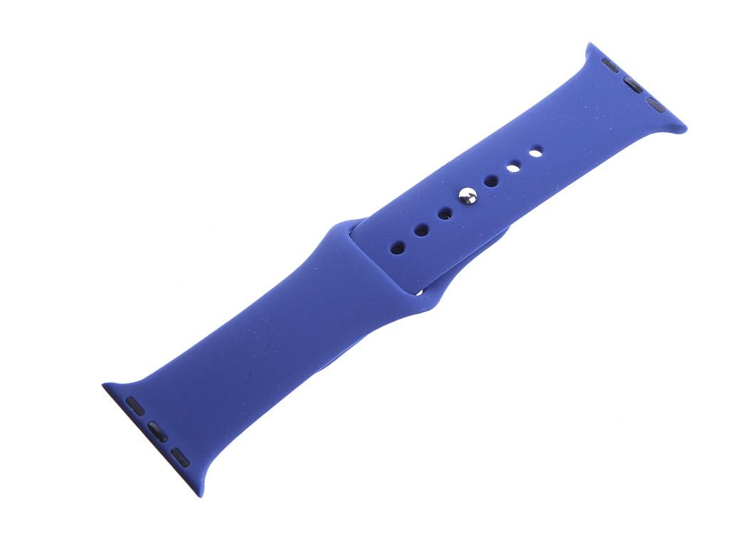 Аксессуар Ремешок DF для Apple Watch 38mm/40mm iClassicband-01 Blue