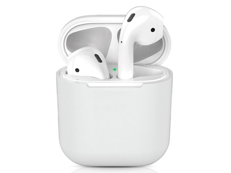 Чехол DF для Apple Airpods 1/2 White iAir-01