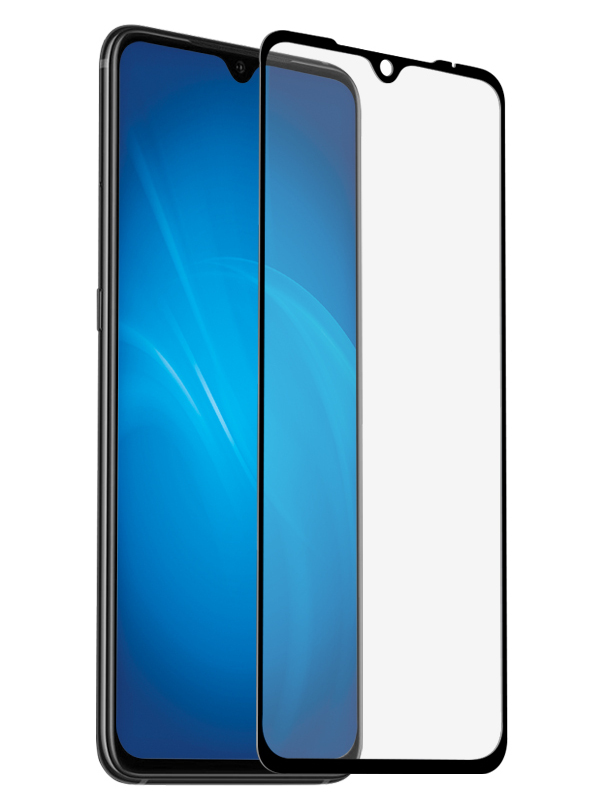 Закаленное стекло DF для Xiaomi Mi A3/CC9E Full Screen+Full Glue xiColor-66 Black Frame