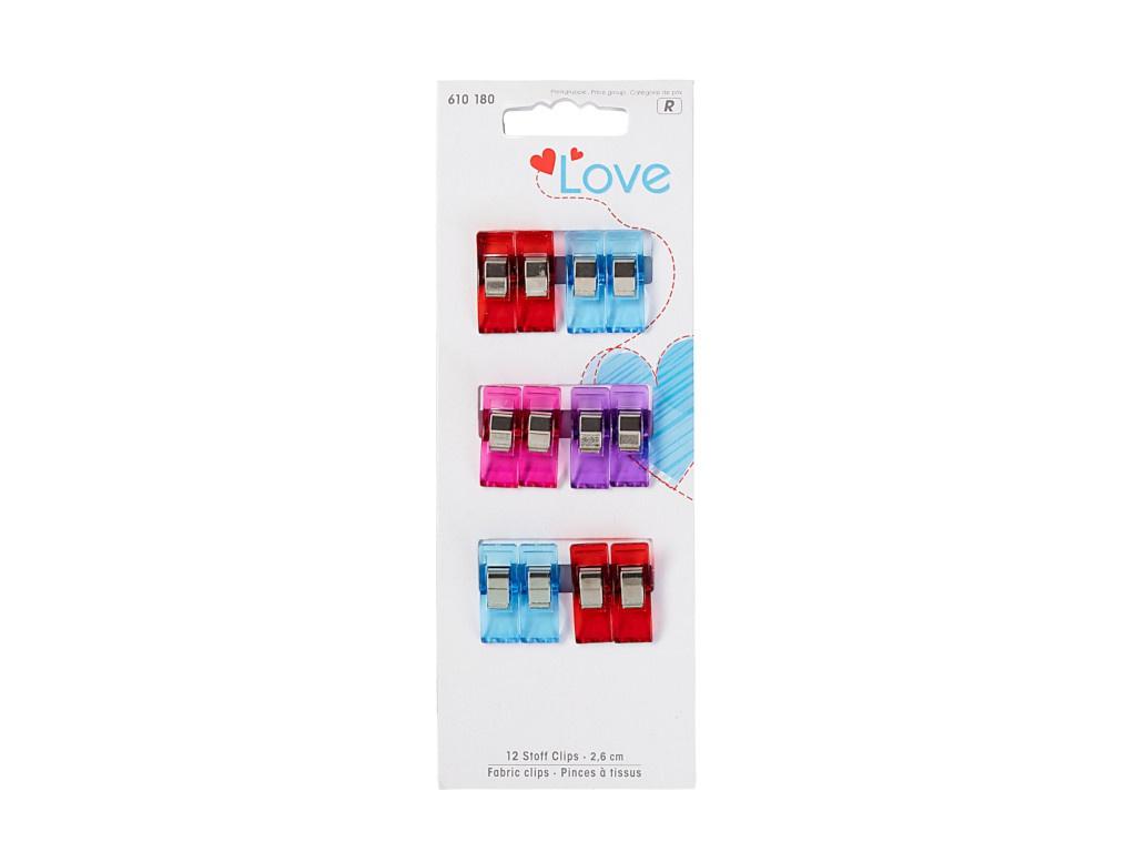 Прищепки для работы с тканями Prym Love 2.6см 12шт 610180