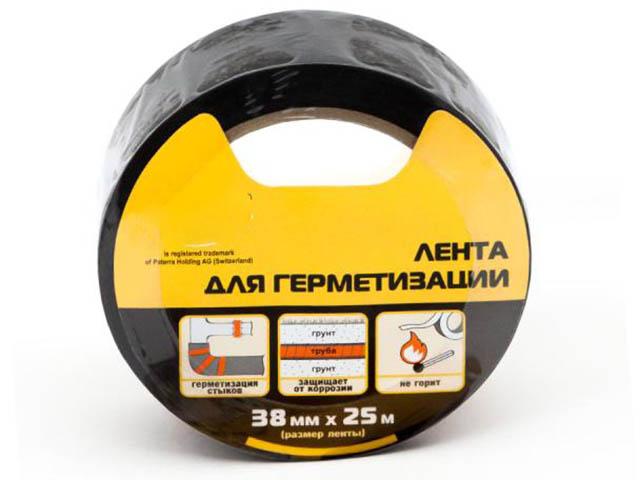 Клейкая лента для герметизации Aviora 38mm х 25m Black 302-049