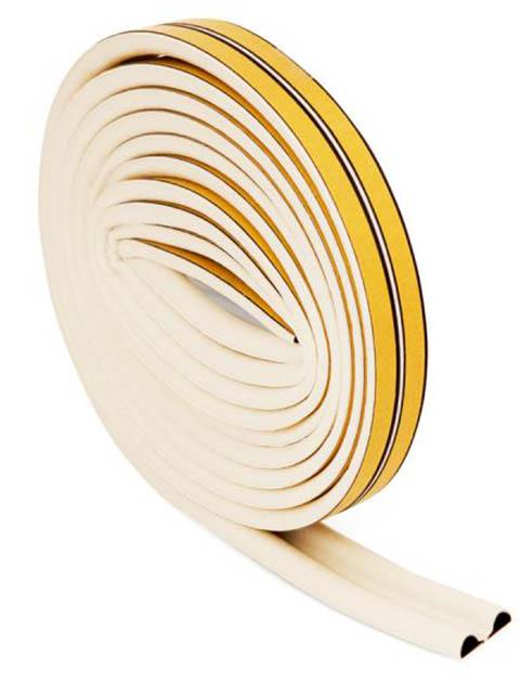 Уплотнитель резиновый Aviora Р-профиль 6m White 302-079