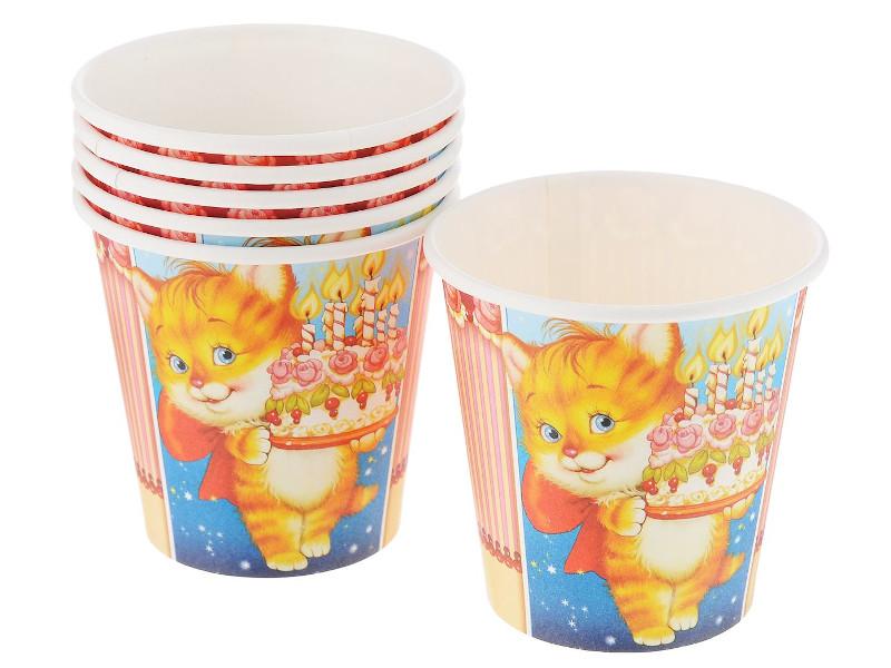 Одноразовые стаканы Paterra Детский праздник 250ml 6шт 401-470