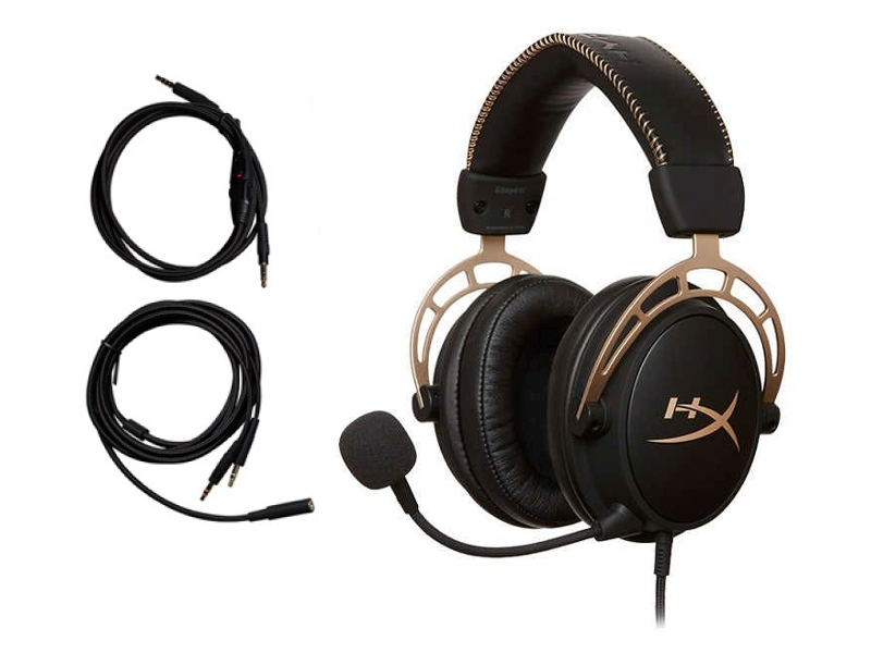 Наушники Kingston HyperX Cloud Alpha Black-Gold HX-HSCA-GD/NAP наушники kingston hyperx cloudx stinger core black green hx hscscx bk
