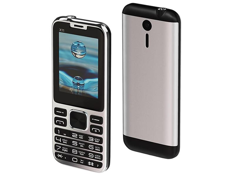 Сотовый телефон Maxvi X11 Metallic Silver