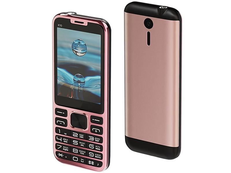 Сотовый телефон Maxvi X10 Rose Gold