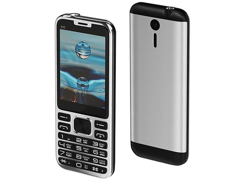 Сотовый телефон Maxvi X10 Metallic Silver