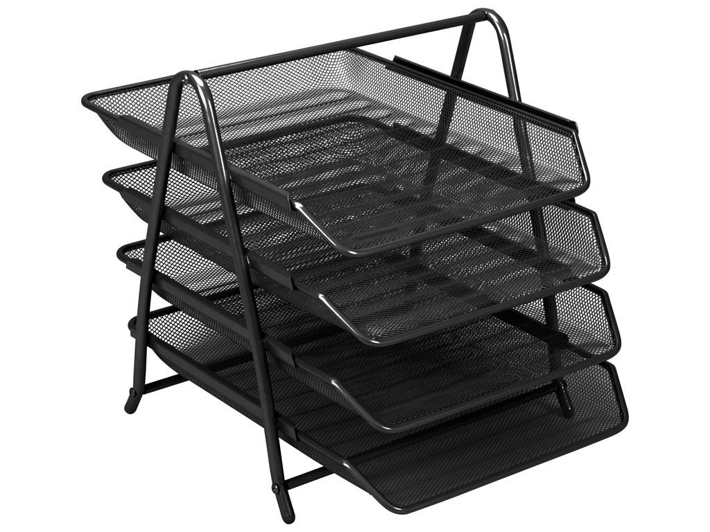Лоток горизонтальный Berlingo Steel & Style Black BMs_41042
