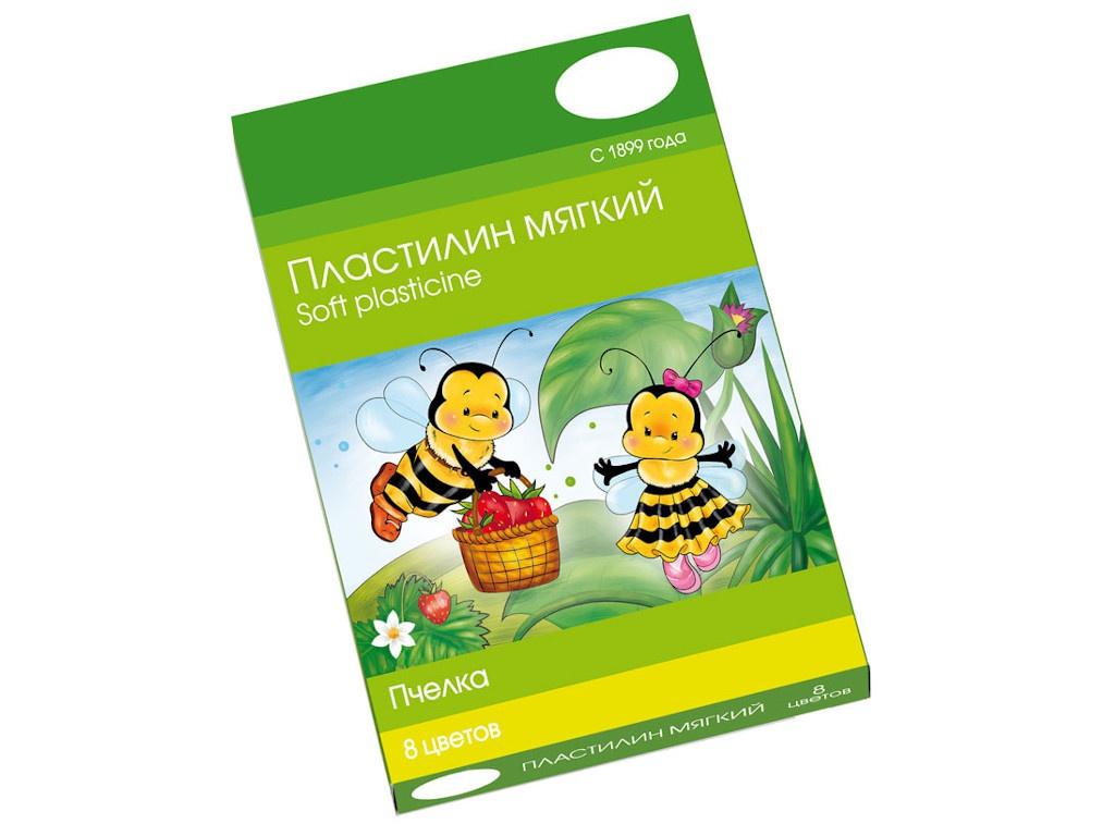 Набор для лепки Гамма Восковой пластилин Пчелка 8 цветов 120гр 280038Н масса для лепки гамма малыш 8 цветов 211218 04