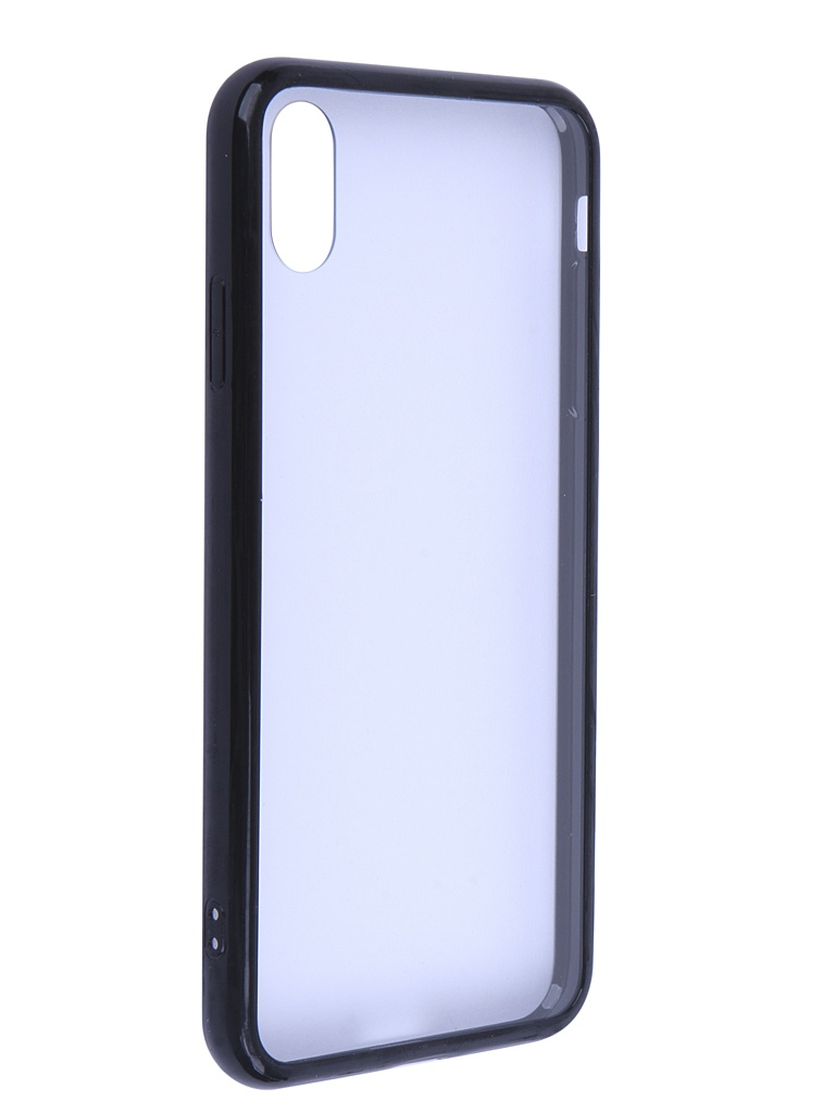 Аксессуар Чехол Liberty Project для APPLE iPhone Xs Max Glass Case Transparent-Black Frame 0L-00041890