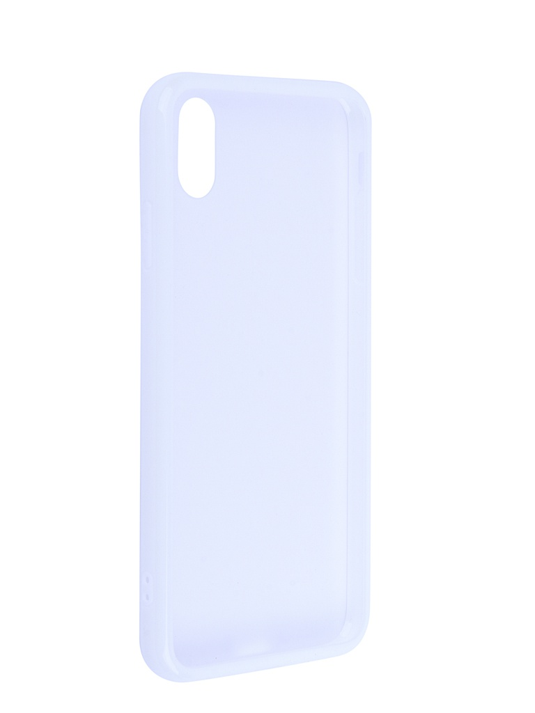 Чехол Liberty Project для APPLE iPhone Xs Max Glass Case Transparent-White Frame 0L-00041897
