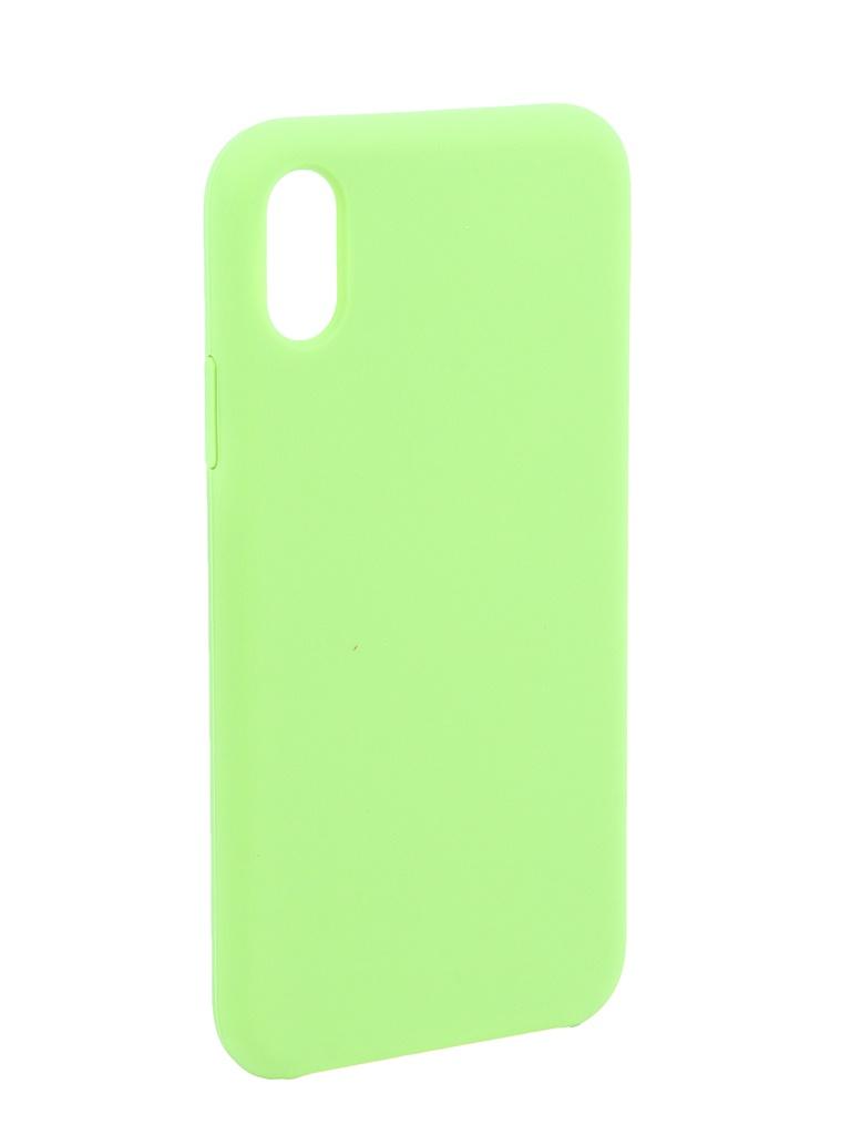 Аксессуар Чехол Liberty Project для APPLE iPhone X/Xs Silicone Protect Cover Light Green 0L-00041867 аксессуар чехол liberty project для apple iphone x rainbow glass case gold 0l 00040365