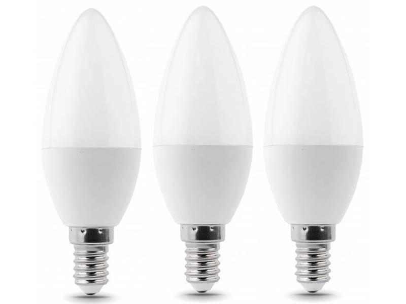 Лампочка Gauss Elementary E14 Свеча 7W 2700K 3шт 33117T лампочка экономка свеча e14 5w 160 260v 450lm 2700k ecoledfl5wcne1427