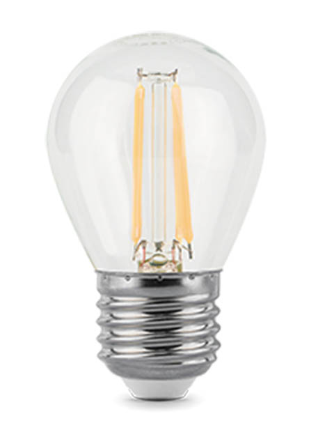 Фото - Лампочка Gauss Filament E27 Шар 7W 580Lm 4100K Step Dimmable 105802207-S лампочка gauss filament candle gs 103801109