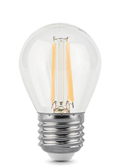 Лампочка Gauss Filament E27 Шар 7W 550Lm 2700K Step Dimmable 105802107-S