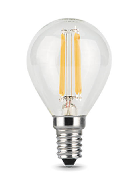 Лампочка Gauss Filament E14 Шар 7W 580Lm 4100K Step Dimmable 105801207-S