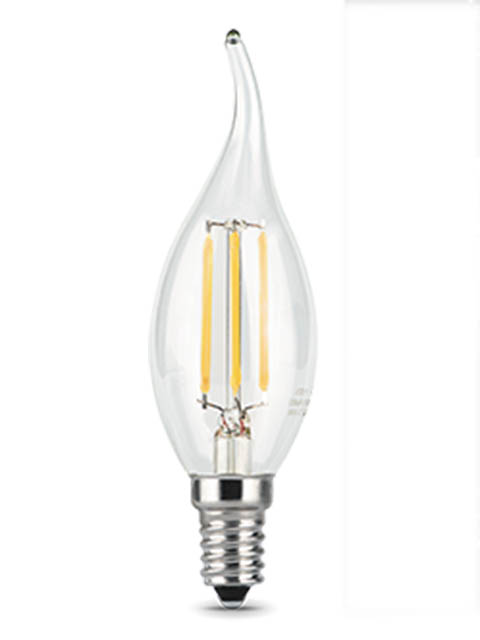 Лампочка Gauss Filament E14 Свеча на ветру 7W 580Lm 4100K Step Dimmable 104801207-S