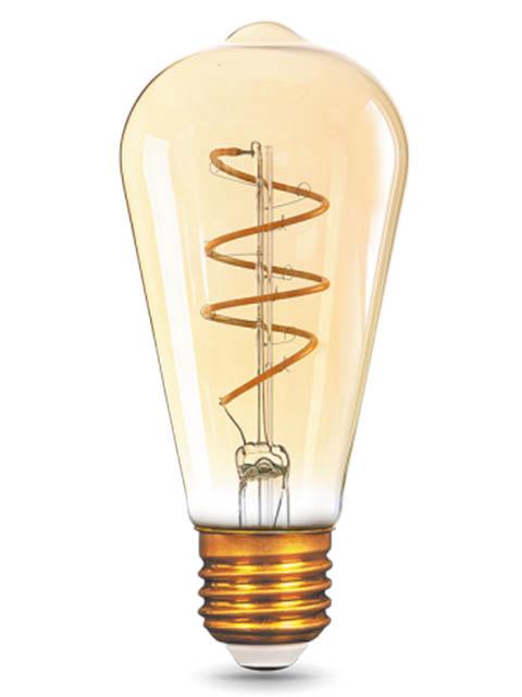 Лампочка Gauss Filament Flexible ST64 E27 6W 360Lm 2400K Golden 157802006