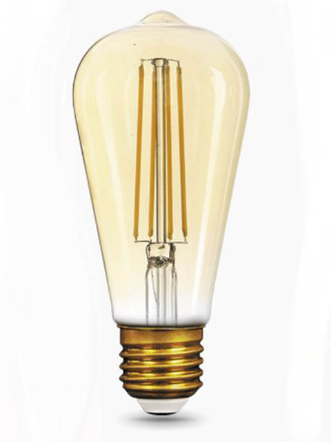 Лампочка Gauss Filament ST64 E27 8W 220V 2400K 740Lm Warm Light Golden 157802008