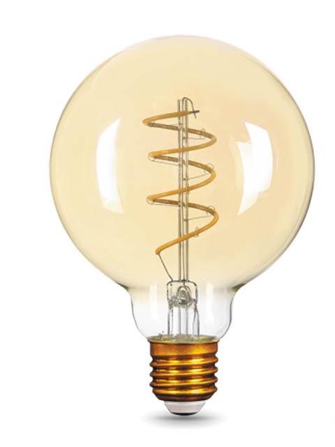 Лампочка Gauss Filament Flexible E27 G95 6W 360Lm 2400K Golden 105802007