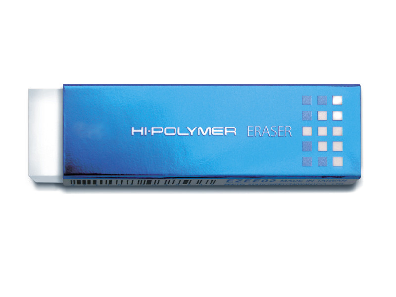 Ластик Pentel HI-Polymer Slim Eraser 65x18x4.5mm EZEE02